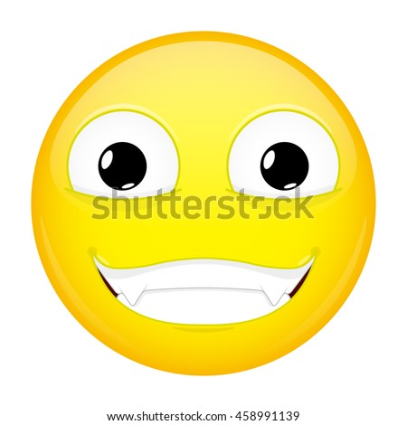 Evil Emoji Happy Emotion Nibbler Emoticon Vector De Stock Libre De
