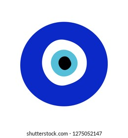 Evil eye amulet vector emoji