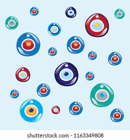 Evil eye bead. Turkish evil   icon. vector illustration.