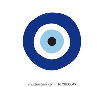 Evil eye icon. Evil eye vector illustration.   amulet vector illustration.