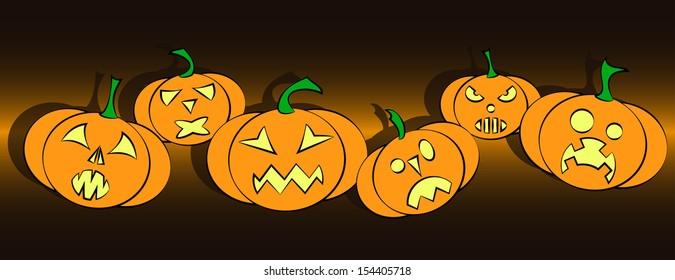 evil halloween pumpkins