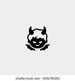 Evil icon. Devil icon. Vector devil icon. Baby devil icon
