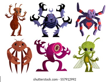 evil insects spiders crab worms and bugs monster creatures