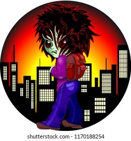 Evil Kid Zombie on Night City Nightmare