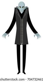 evil monster bald pale vampire