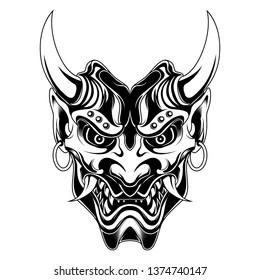Evil Samurai Ronin Devil vector illustration