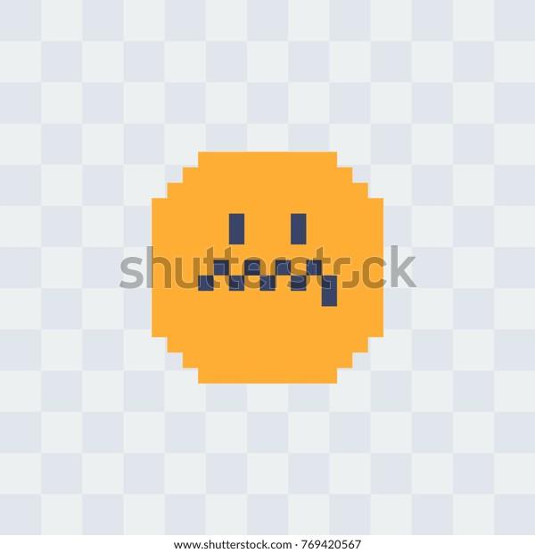 Evil Smiley Pixel Art Icon 8bit Stock Vector Royalty Free