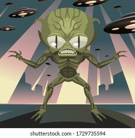 evil space invader alien from ufo