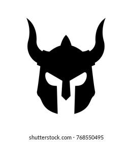 Evil Sparta Helmet Logo Basic Vector