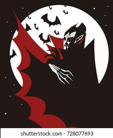 evil vampire in the night