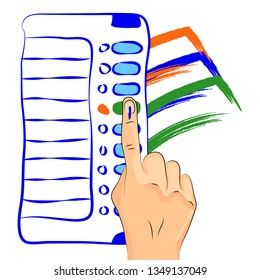 EVM Voting Tricolor Sign