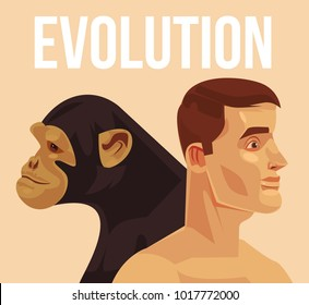 Evolution of homo sapiens. Vector flat cartoon illustration