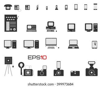 Evolution of phones, computers & cameras