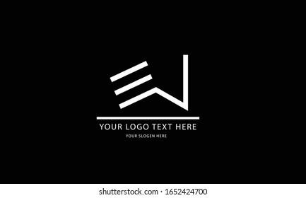 EW WE abstract vector logo monogram template