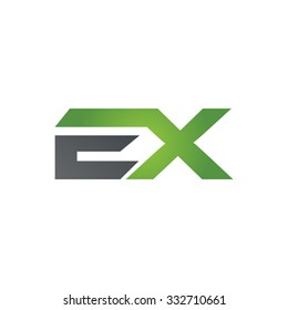 EX company linked letter logo green