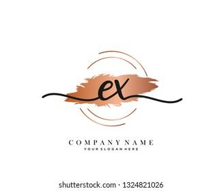 EX handwriting initial  logo vector