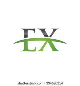 EX initial company green swoosh logo