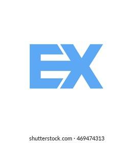 ex initial logo design