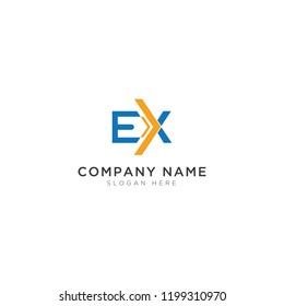 EX letter with house Logo Template Design Vector, Emblem, Design Concept, Creative Symbol, Icon