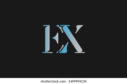 EX Letter Logo Design with Creative Modern Trendy Typography