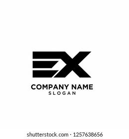 ex logo icon designs vector