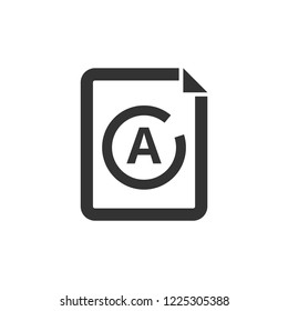 Exam result icon in thick outline style. Black and white monochrome vector illustration.