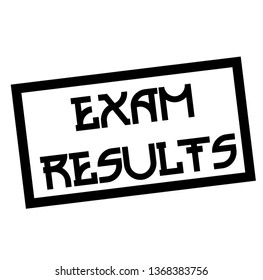 EXAM RESULTS stamp on white