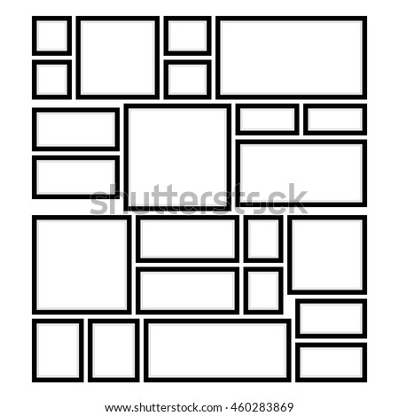 Example Arrangement Photo Frames On Wall Stock Vector Royalty Free
