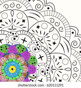 Example coloring mandala.