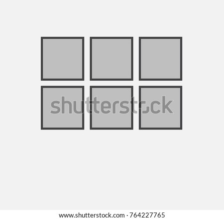 Example Device Frames On Wall How Stock Vector (Royalty Free ...