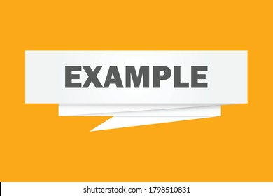 Example paper origami speech bubble design vector