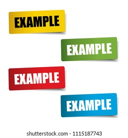 Example Realistic,Sticker and Tag set-vector illustration