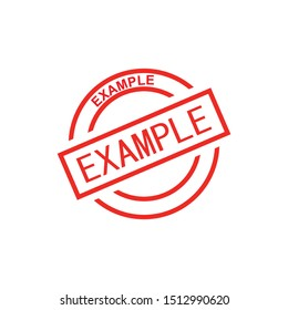 Example Stamp Vector Template Illustration Design.