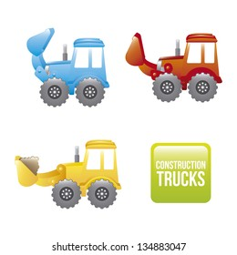 excavator cartoon over white background. vector illustration