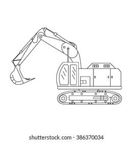 Ilustraciones, imágenes y vectores de stock sobre Excavator