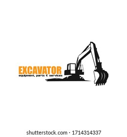 Excavator Heavy Equipment Logo Design