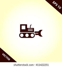 excavator icon. loader vector illustration
