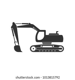 Excavator icon. Logo element illustration.  Simple Excavator concept. Can be used in web and mobile.