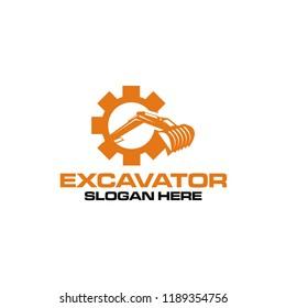 excavator logo design