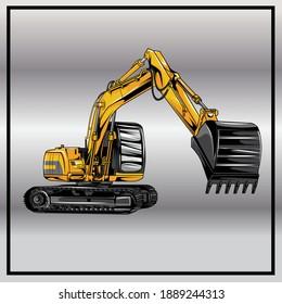 Excavator logo designs concept vector illustration eps 10