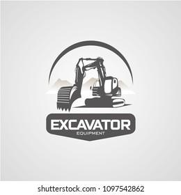 Excavator Logo Designs Template
