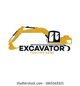 excavator logo icon vector silhouette isolated for transport and building company