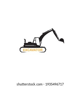 Excavator logo illustration vector design