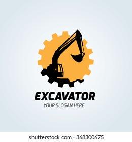 Excavator Logo Template.
