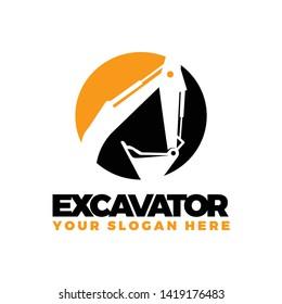 Excavator logo template vector illustration