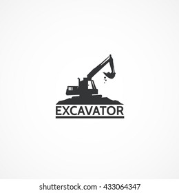 Excavator on the mountain.