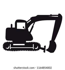 Excavator silhouette vector illustration