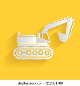 Excavator symbol,clean vector