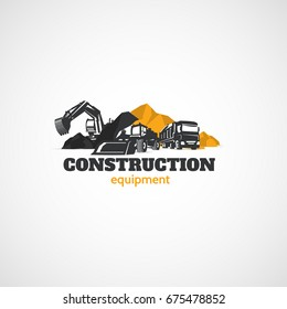 Excavator, Truck and Loader, Construction Equipment.
