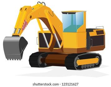 excavator. vector illustration